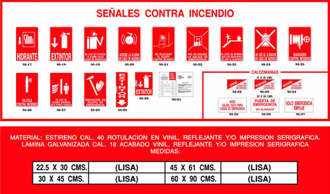 Medidas contra incendios affordable proteccion contra for Medidas contra incendios